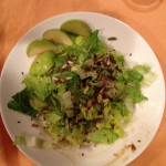romaine, seeds, olive oil, granny smith apples